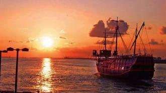 サンセット&夜景が楽しめる「帆船型観光船 サンタマリア トワイライトクルーズ」