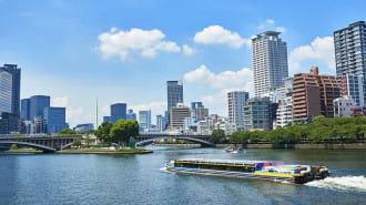 大阪の観光名所を川から一気に見られる!「大阪水上バス アクアライナー」