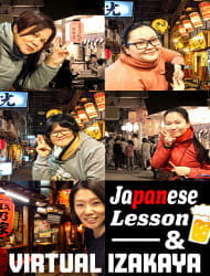 【Online Experiences】Kanpai! Experience Izakaya (Japanese Style Pub) & Mini Japapanese lesson!