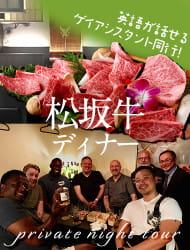 Private Night Tour with an authentic LGBTQ+ assistant (Matsuzaka beef dinner)