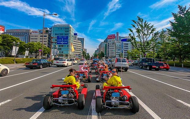 Akiba Kart Osaka Street Go Kart Tour in Namba